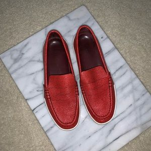 rag & bone   Embossed Leather Penny Loafers